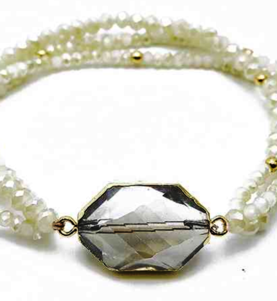 Crystal 3 strand bracelet