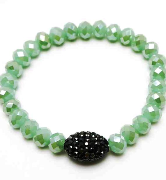 Pave Stretch Bracelet Mint