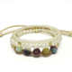 Crystal with Amazonite 3 Layer Stretch Bracelet Mint