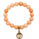Agate Stretch Bracelet with Dangle Crystal Pink