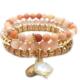 Agate Stretch Bracelet Pink