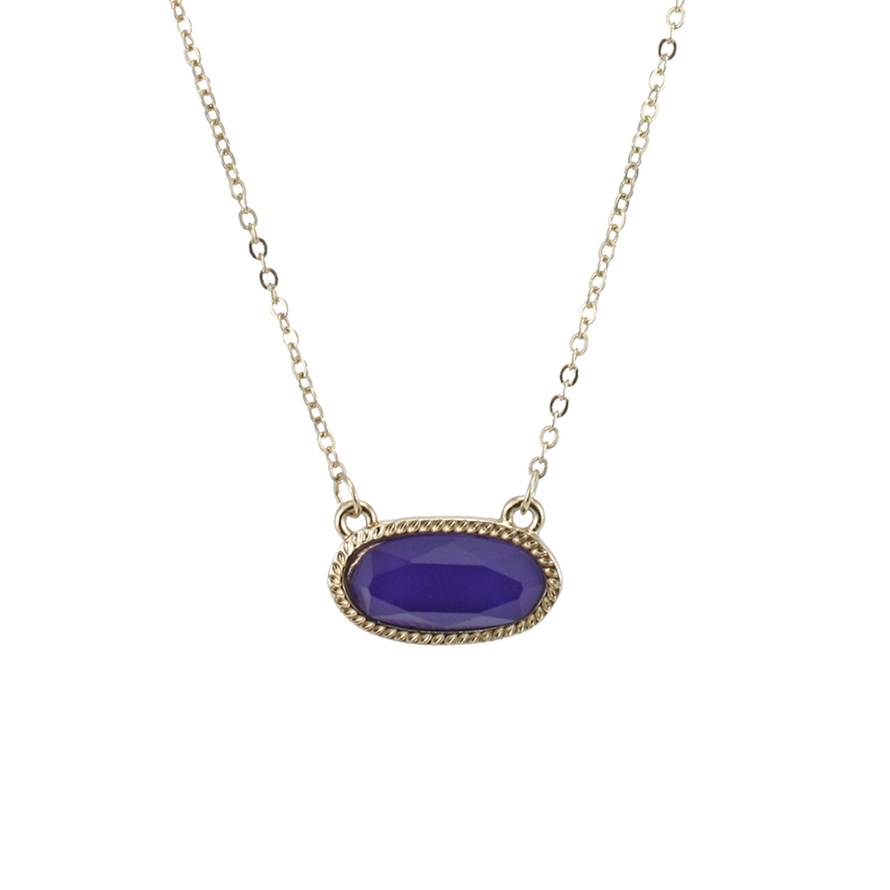 Designer Inspired Necklace Purple